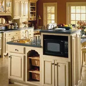 microwave cabinet