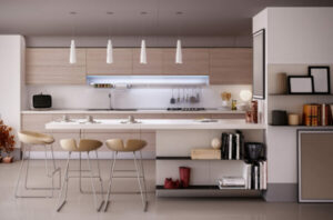 Mix up Your Kitchen Cabinets Styles by Combining Wood, Lacquer and Paint