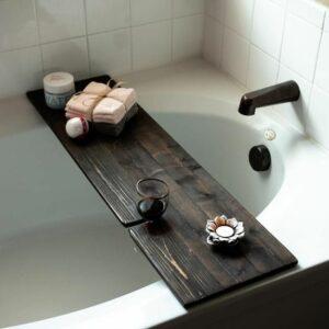Rustic Farmhouse Bathtub Caddy Tray