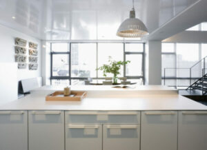 Lacquered Kitchen Cabinets Add as a Lush Modern Look