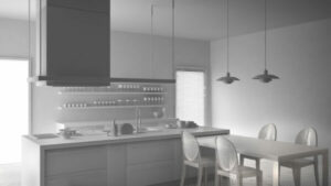 Take Out the Upper Kitchen Cabinets for an Modern Space