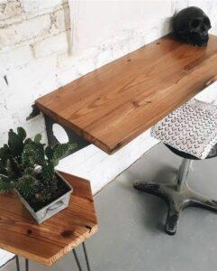 Industrial Wooden Floating Desk