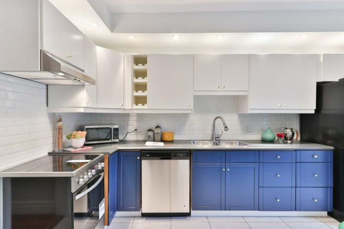 microwave cabinet in modular kitchen