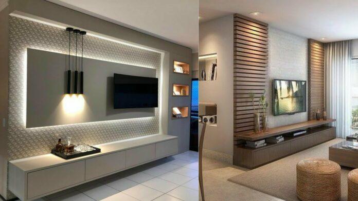 modern tv wall unit decorating ideas